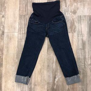 Indigo Blue maternity cropped jeans